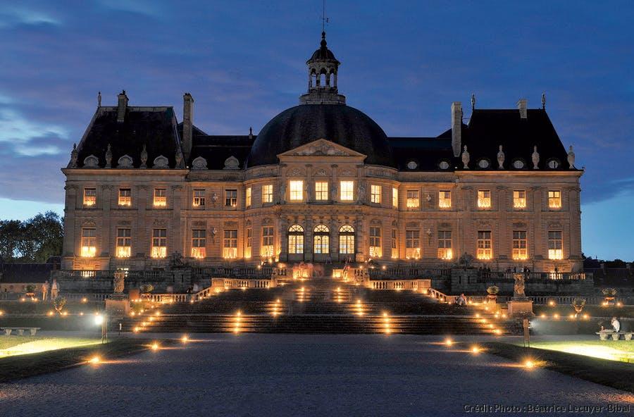 Vaux-le-Vicomte de nuit