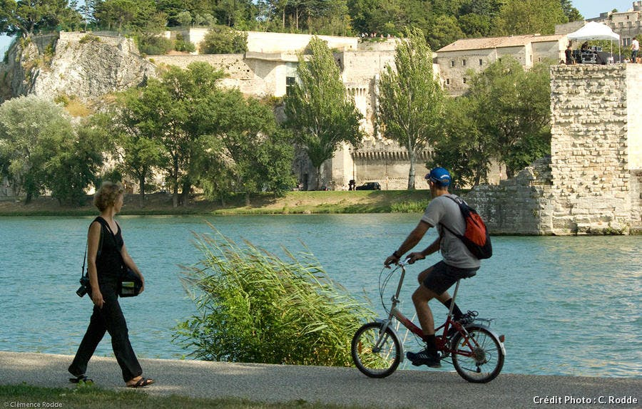 île de la Barthelasse ne vélo