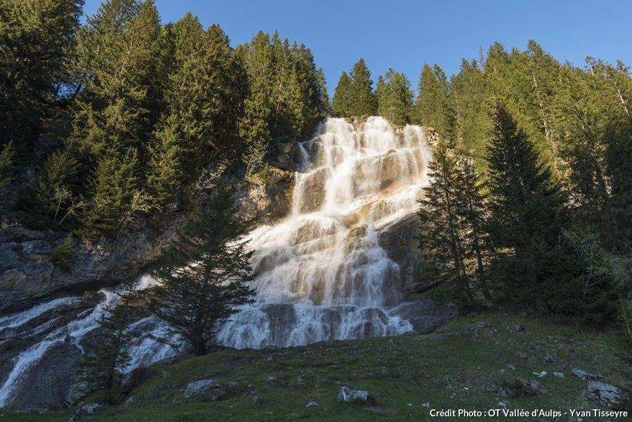 La cascade des Brochaux, en Haute-Savoie