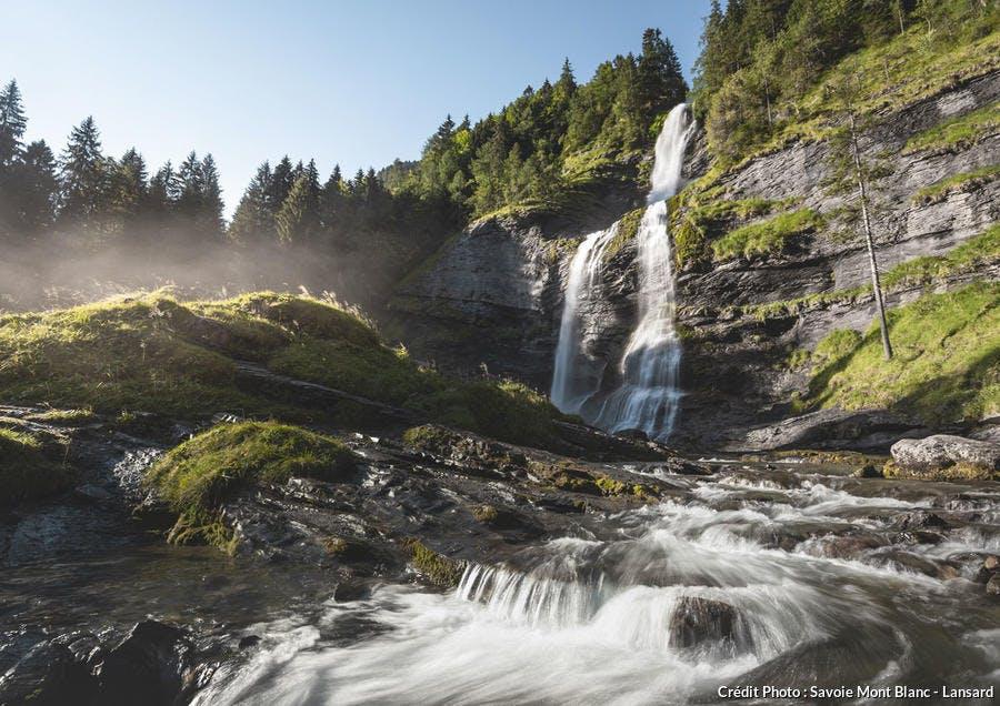 La cascade du Rouget, en Haute-Savoie