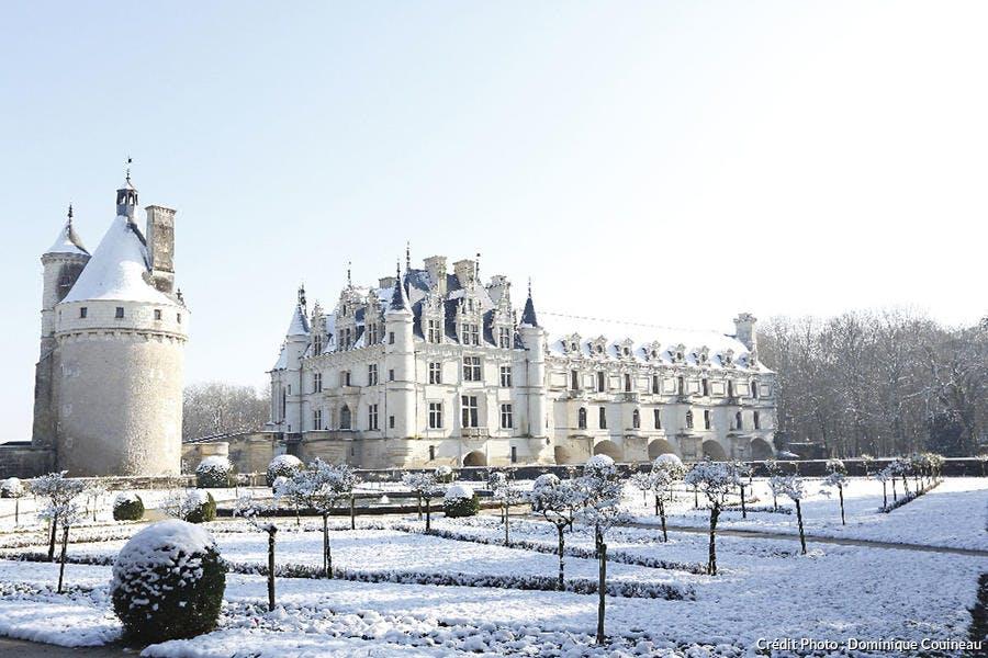 Le château de Chenonceau sous la neige