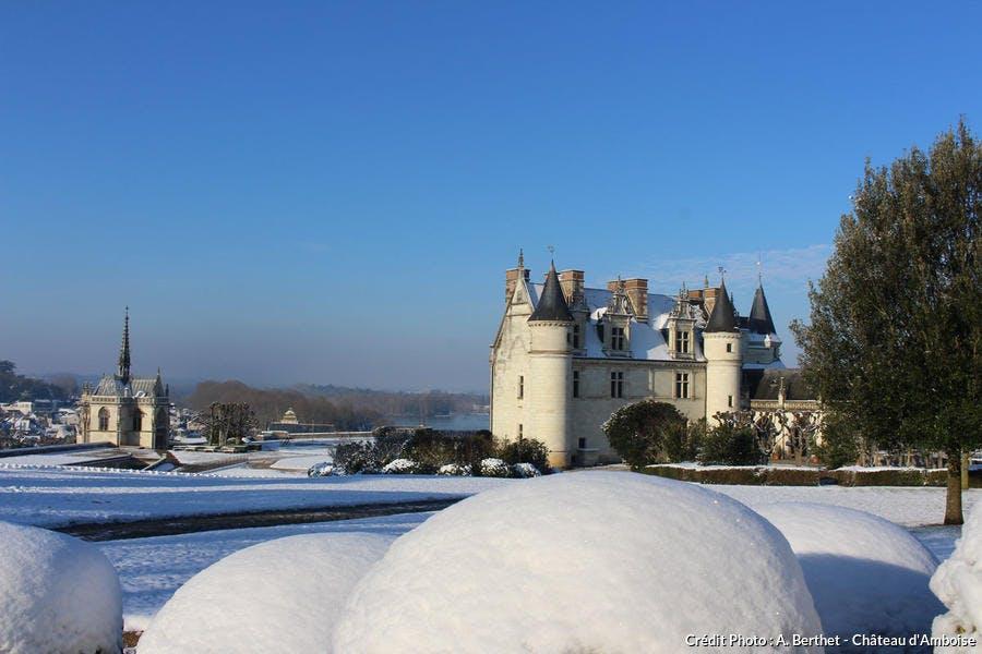 Le château d'Amboise sous la neige