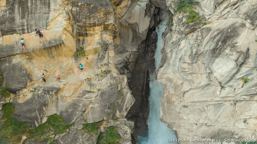 La cascade de la Fraîche, en Savoie