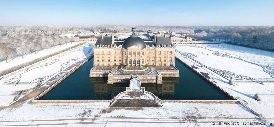 Le château de Vaux-le-Vicomte sous la neige