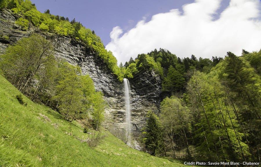 La cascade du Dard, à la Giettaz