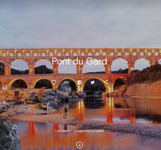 Le Pont du Gard en visite virtuelle sur Google Arts and Culture