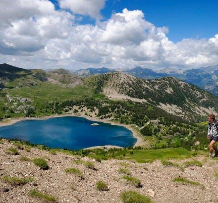 Le lac d'Allos dans les Alpes-de-Haute-Provence