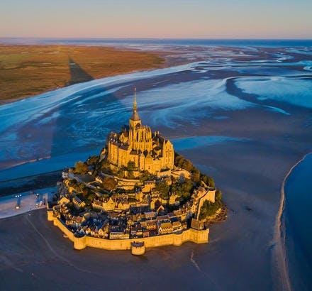 La baie et l'abbaye du Mont-Saint-Michel, Normandie