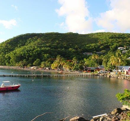 La plage de Malendure, à Bouillante, en Guadeloupe
