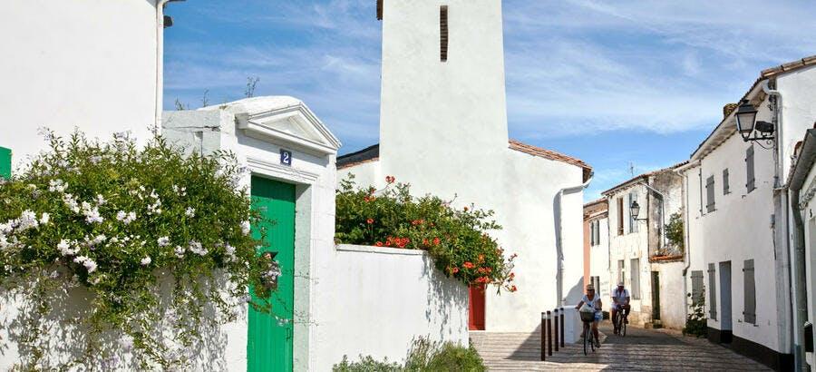 Le village de Portes-en-Ré sur l'île de Ré, en Charente-Maritime (Poitou-Charentes)