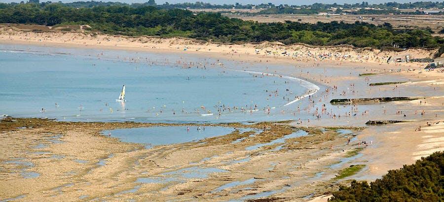 La conche des Baleines, sur l'île de Ré (Charente-Maritime)