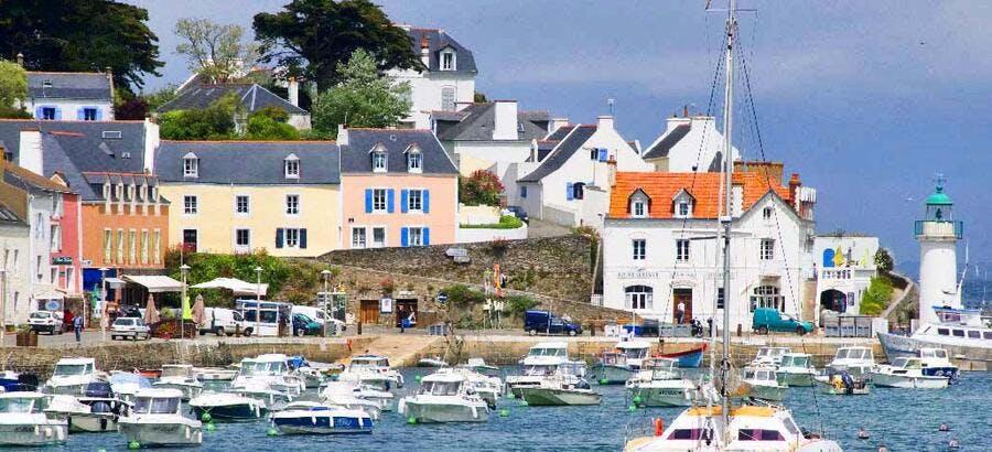 Le port de Sauzon, à Belle-Île-en-Mer