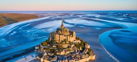 Vue aérienne du Mont-Saint-Michel