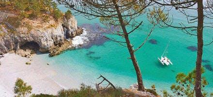 Plage de l'île Vierge sur le presqu'île de Crozon