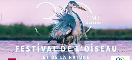 Affiche du 30e Festival de l'oiseau et de la nature 2020