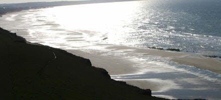 vue plongeante sur la baie de Wissant