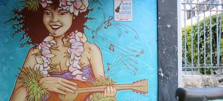 Graffiti typique de Polynésie française