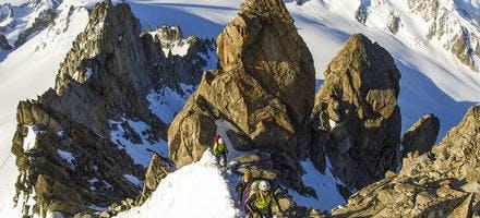 Flanc nord du mont Blanc.