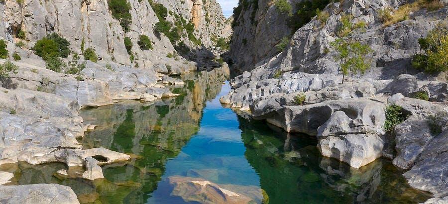 Les gorges de Gouleyrous, dans les Pyrénées-Orientales