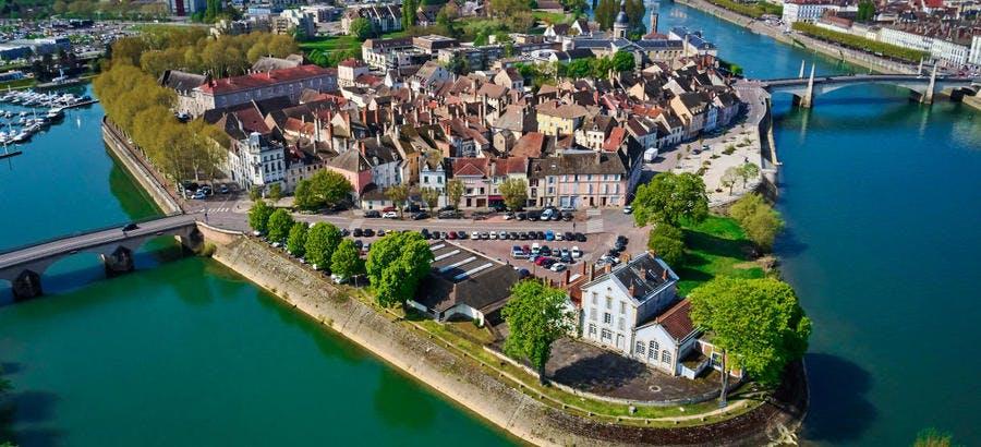 Vue aérienne de Chalon-sur-Saône