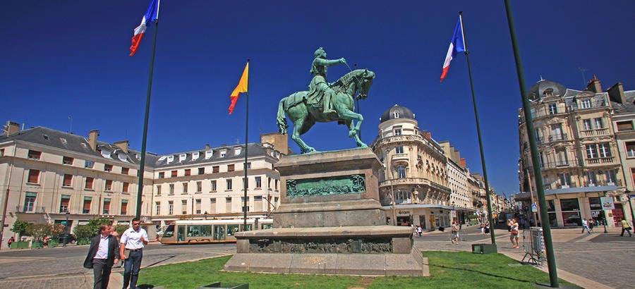 Jeanne d'Arc devant les portes d'Orléans