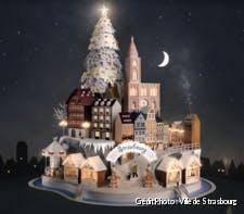 Maquette du marché de Noël de Strasbourg