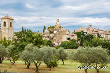 Gordes, entouré d'oliviers