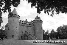 Château de Combourg en noir et blanc