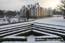 Chateau de Cormatin sous la neige