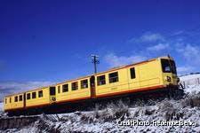 le train jaune en hiver