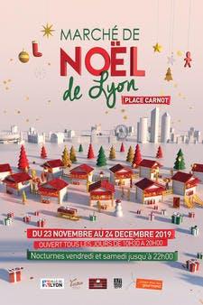 Marché de Noël de Lyon, affiche de l'édition 2019