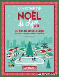 Affiche du marché de Noël de Lyon