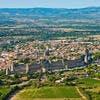 Vue aérienne de la cité de Carcassonne (Aude)