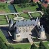 Vue aérienne du château de Bussy-Rabutin
