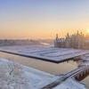 Le domaine de Chambord sous la neige